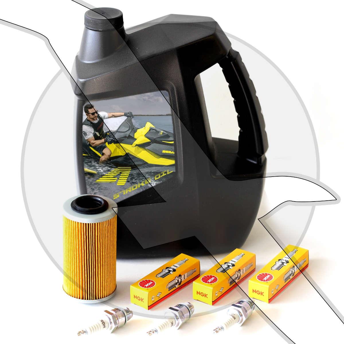 Details about Oil & Filter Spark Plug Change Kit Sea Doo 4 TEC GTI GTX RXT  RXP 4 Stroke Seadoo