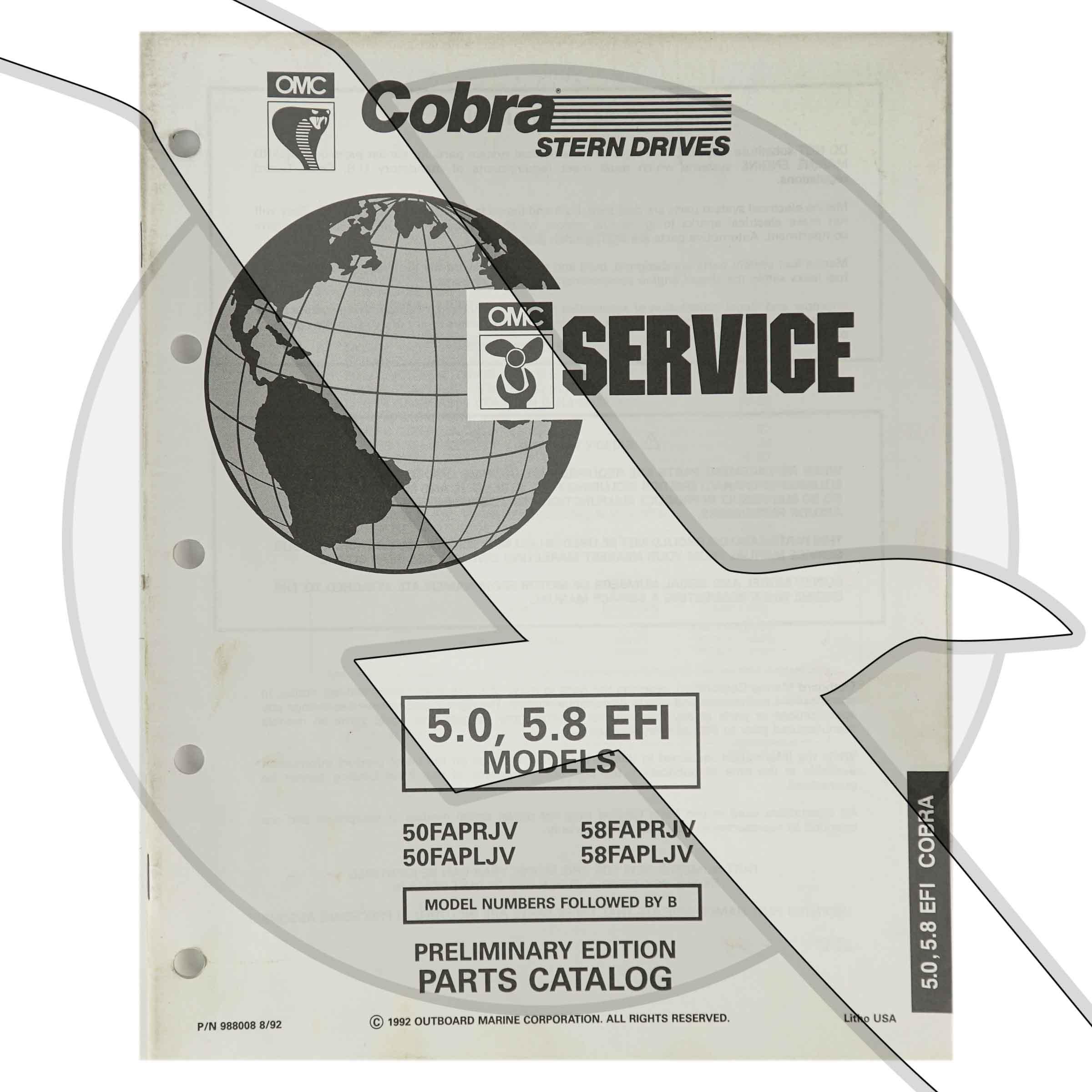1993 Omc Cobra 5 0l 302 5 8l 351 Efi Engine  U0026 Sterndrive