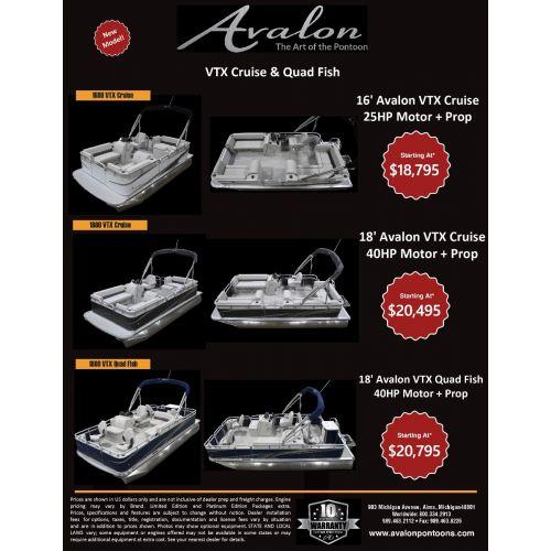 2020 Avalon Pontoon Limited Promotional Boats