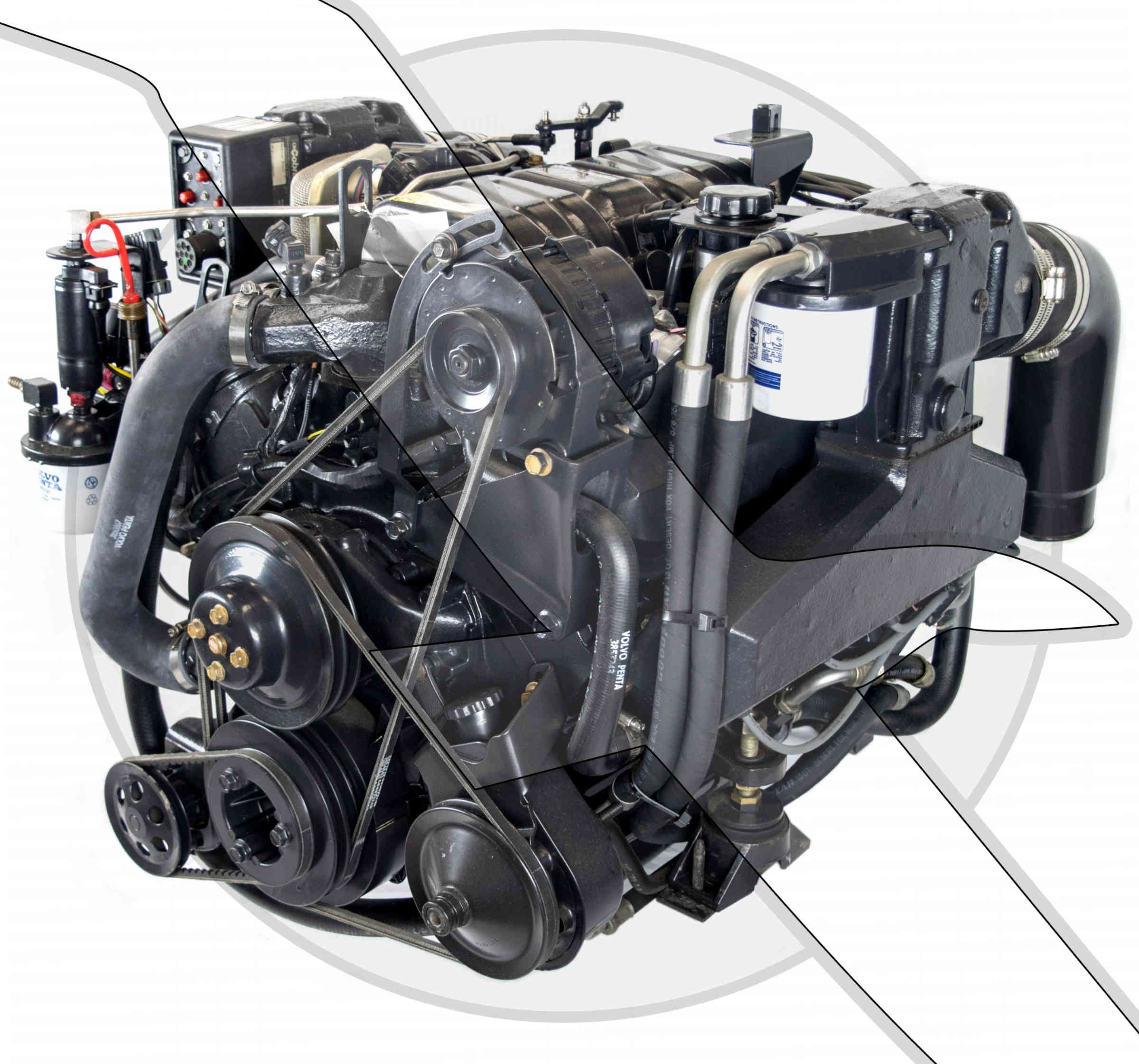 Volvo Penta 7 4L 454 Gi Fuel Injected Engine