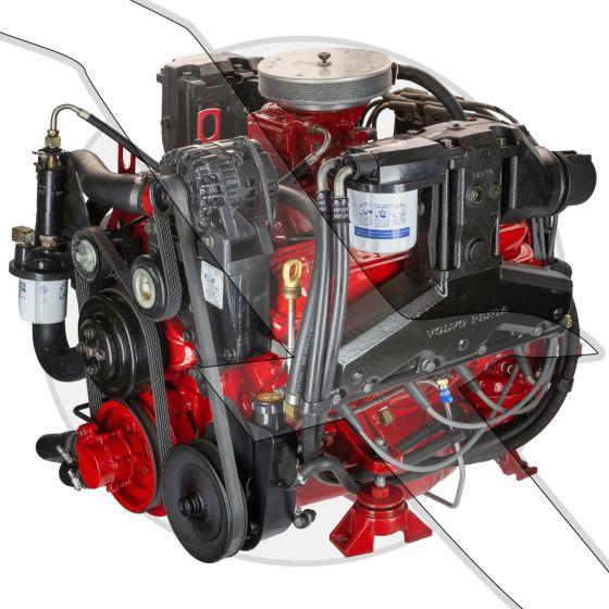 Volvo Penta 5.0L GL-H Rebuilt Complete Sterndrive Engine