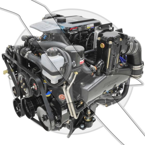 Mercruiser 350 MAG MPI Bravo Complete Engine
