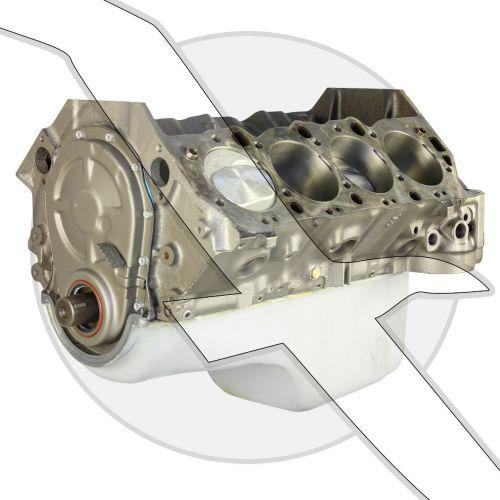 7.4L 454ci HO Short Block Marine Engine