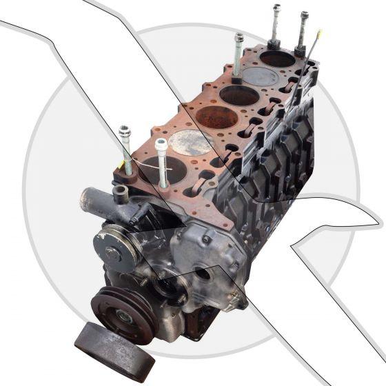 Mercruiser 4.2L 254ci VM Diesel Short Block Engine